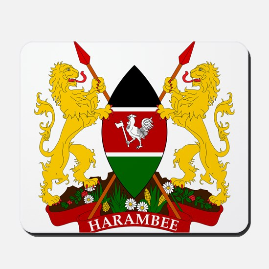 Kenya Coat Of Arms Mousepad