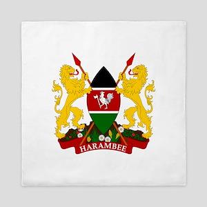 Kenya Coat Of Arms Queen Duvet