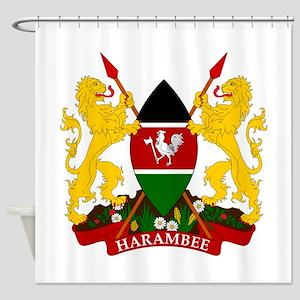 Kenya Coat Of Arms Shower Curtain