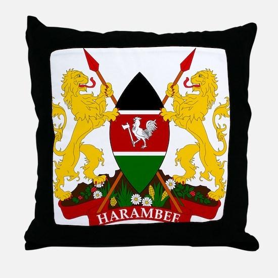 Kenya Coat Of Arms Throw Pillow