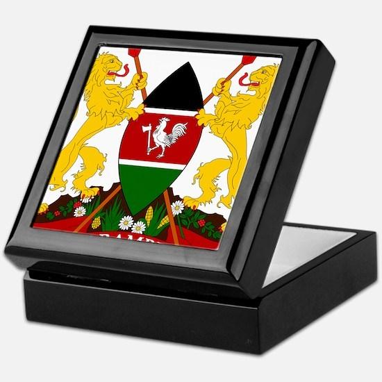 Kenya Coat Of Arms Keepsake Box