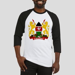 Kenya Coat Of Arms Baseball Jersey