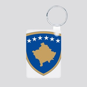 Kosovo Coat Of Arms Aluminum Photo Keychain