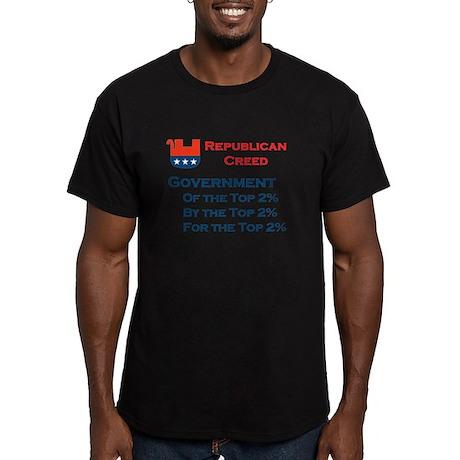 Top 2% - Men's Fitted T-Shirt (dark)