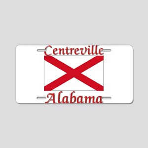 Centreville Alabama Aluminum License Plate
