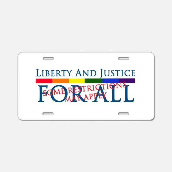 Liberty And Justice For All Aluminum License Plate