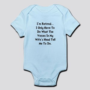 Retired Wife Voices Black Infant Bodysuit