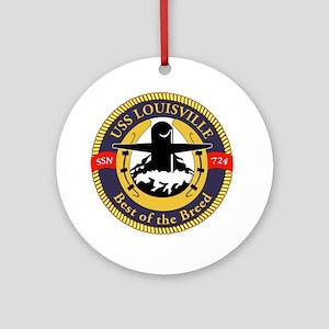 USS Louisville Ornament (Round)