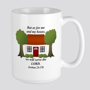 As For Me And My House Large Mug