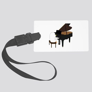Concert Pianist Large Luggage Tag