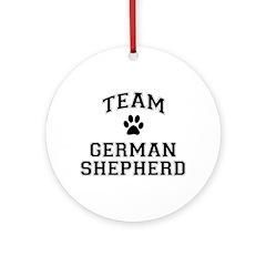 Team German Shepherd Ornament (Round)