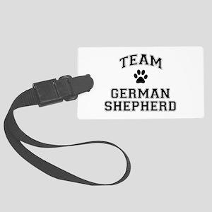 Team German Shepherd Large Luggage Tag
