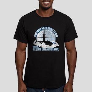 Designed to Sink Men's Fitted T-Shirt (dark)