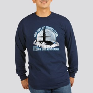 Designed to Sink Long Sleeve Dark T-Shirt