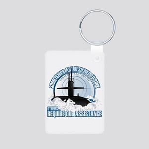Designed to Sink Aluminum Photo Keychain