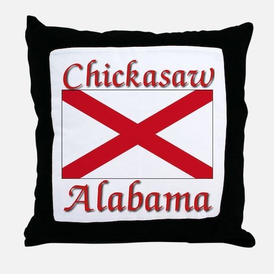 Chickasaw Alabama Throw Pillow