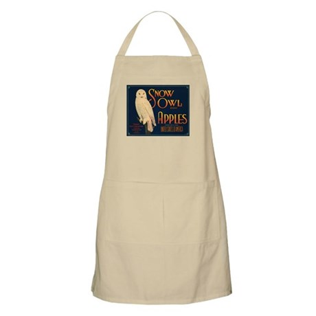 Snow Owl Apples Fruit Crate BBQ Apron
