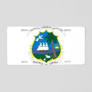 Liberia Coat Of Arms Aluminum License Plate