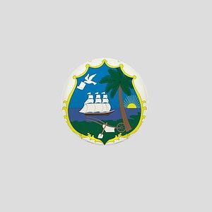 Liberia Coat Of Arms Mini Button