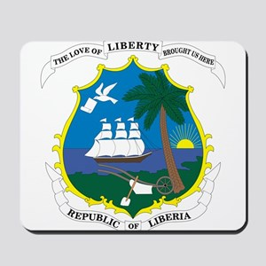 Liberia Coat Of Arms Mousepad