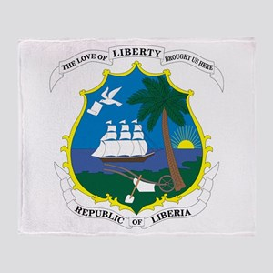 Liberia Coat Of Arms Throw Blanket