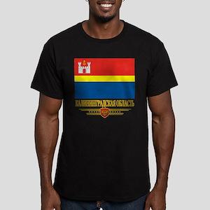 Kaliningrad Oblast Flag Men's Fitted T-Shirt (dark