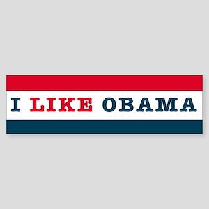 I Like Obama Sticker (Bumper)