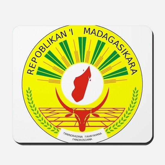 Madagascar Coat Of Arms Mousepad