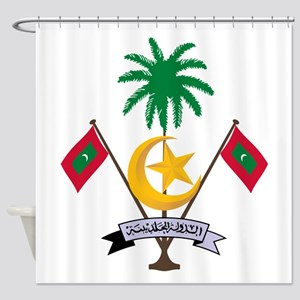 Maldives Coat Of Arms Shower Curtain