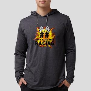 Flaming Racing Mens Hooded Shirt