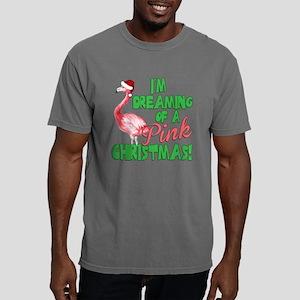 Pink Christmas Mens Comfort Colors Shirt