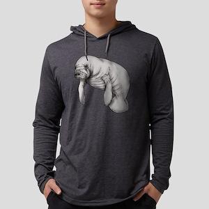 manatee art Mens Hooded Shirt