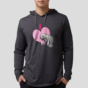 I love Manatees Mens Hooded Shirt