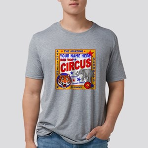 Vintage Circus Poster Mens Tri-blend T-Shirt