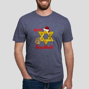 Merry Hanukkah! Mens Tri-blend T-Shirt