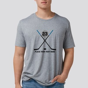 Customize Ice Hockey Mens Tri-blend T-Shirt