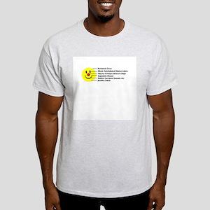 Smiley in Latin Ash Grey T-Shirt