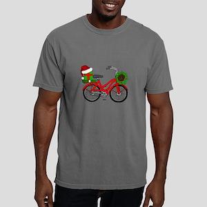Christmas Bicycle Mens Comfort Colors Shirt