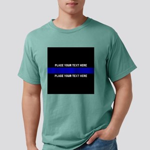 Thin blue line customized Mens Comfort Colors Shir