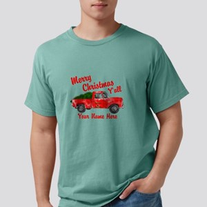 Merry Christmas Yall Mens Comfort Colors Shirt