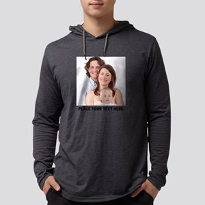 Photo Text Personalized Mens Hooded Shirt