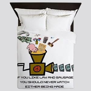 Law and Sausage Queen Duvet