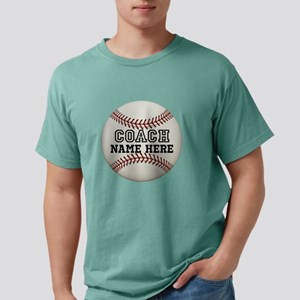 Customize Baseball Coach Mens Comfort Colors Shirt