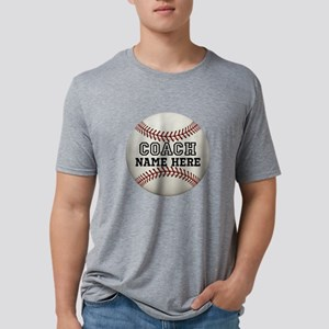 Customize Baseball Coach Mens Tri-blend T-Shirt