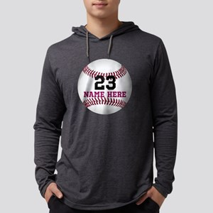 Customize Baseball Name Number Mens Hooded Shirt