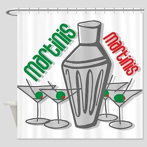 Martinis Shower Curtain