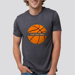 Basketball Personalized Mens Tri-blend T-Shirt