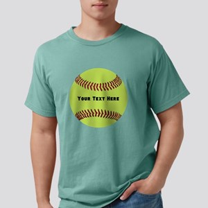 Customize Softball Name Mens Comfort Colors Shirt