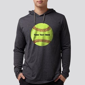 Customize Softball Name Mens Hooded Shirt