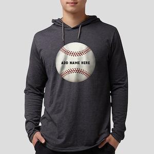 Baseball Name Customized Mens Hooded Shirt